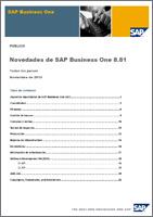 SAP Business One Novedades
