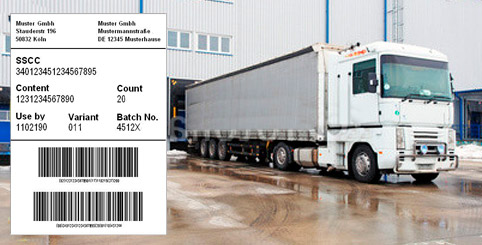 Warehouse output logistic label